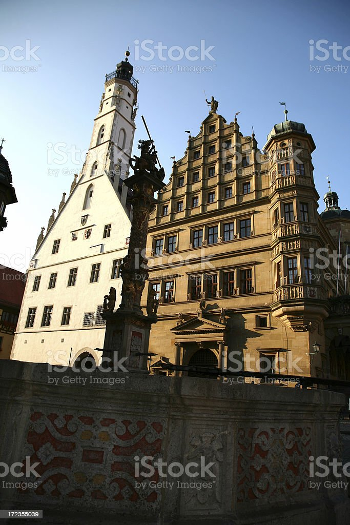 Town hall in rothenburg ob der Tauber Franconia royalty-free stock photo