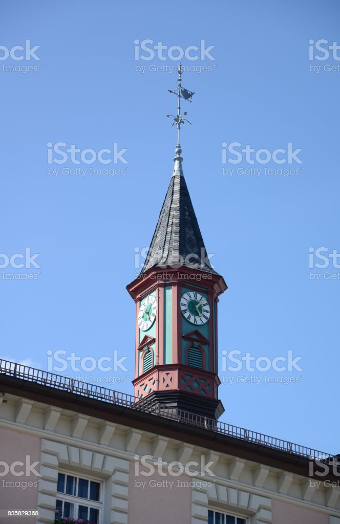 Town hall in Zwiesel, Germany stock photo