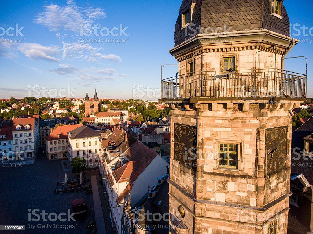 town hall market in Altenburg Thuringia royaltyfri bildbanksbilder