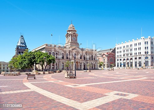 The Market Square in the heart of the Port Elizabeth town centre is an historical icon in this old coastal town -home to the colonial style City Hall, which dates back to the mid-1800's. Its clock tower was added in 1883, the entire structure named as a National Monument in 1973