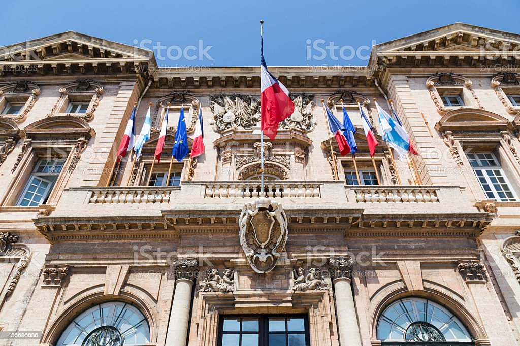 Town hall Marseilles stock photo