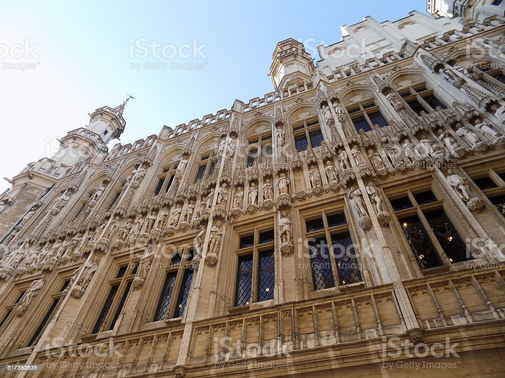 Town Hall of Brussels stock photo