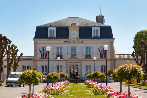 Town hall of Chantilly stock photo