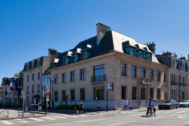 Town hall of Cherbourg-en-Cotentin stock photo