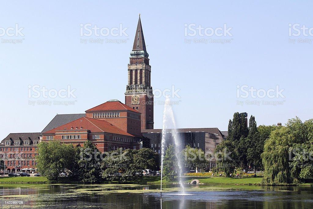 town hall of Kiel, Germany stock photo