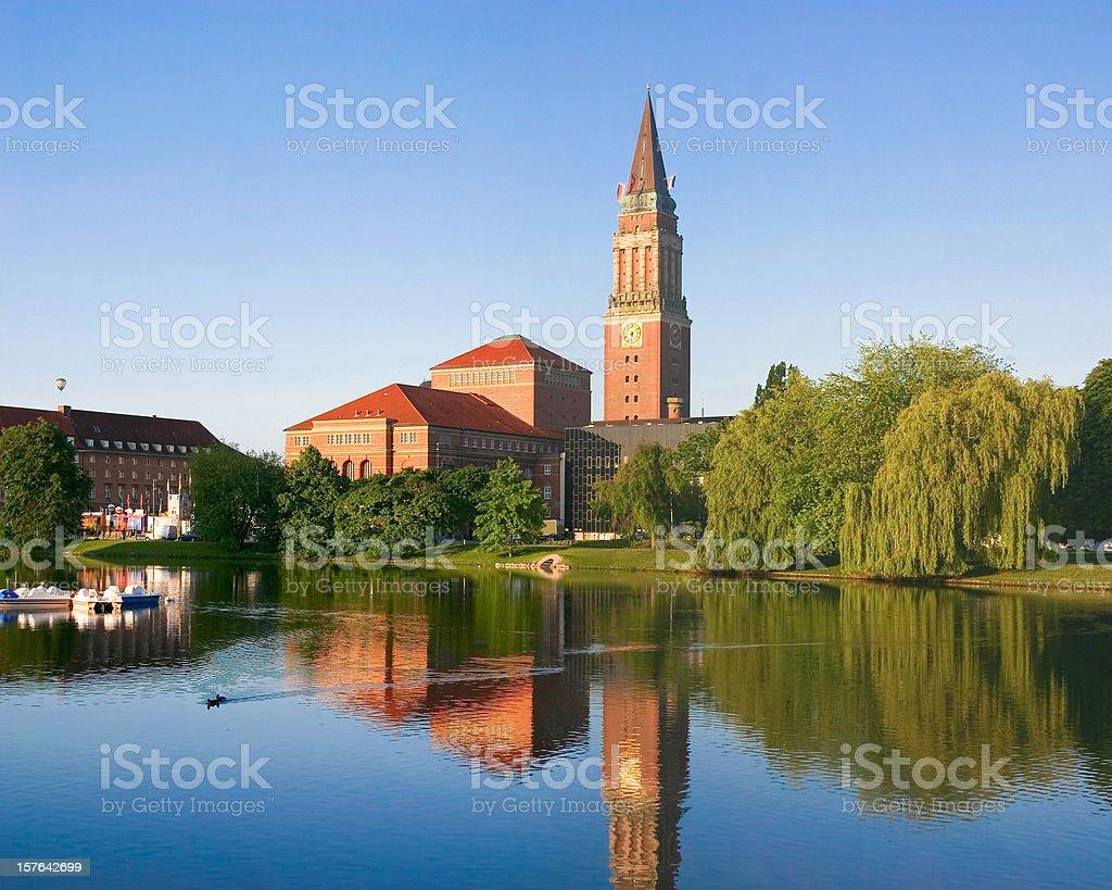 Town hall of Kiel in Germany stock photo