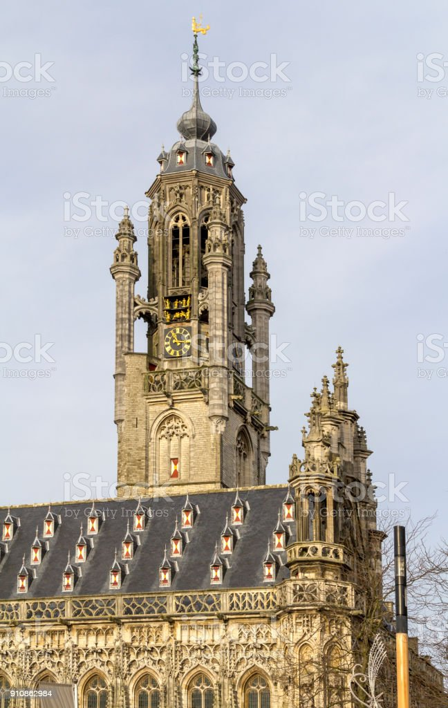 Town hall of Middelburg stock photo