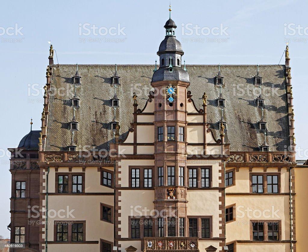 Town hall of Schweinfurt royalty-free stock photo