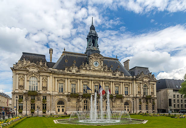 Town hall of Tours - France, Region Centre Town hall of Tours - France, Region Centre 2014 stock pictures, royalty-free photos & images
