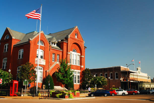 Town Hall, Oxford, Mississippi stock photo