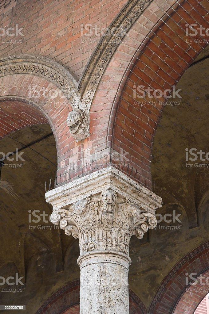 Town hall. Piacenza. Emilia-Romagna. Italy. stock photo