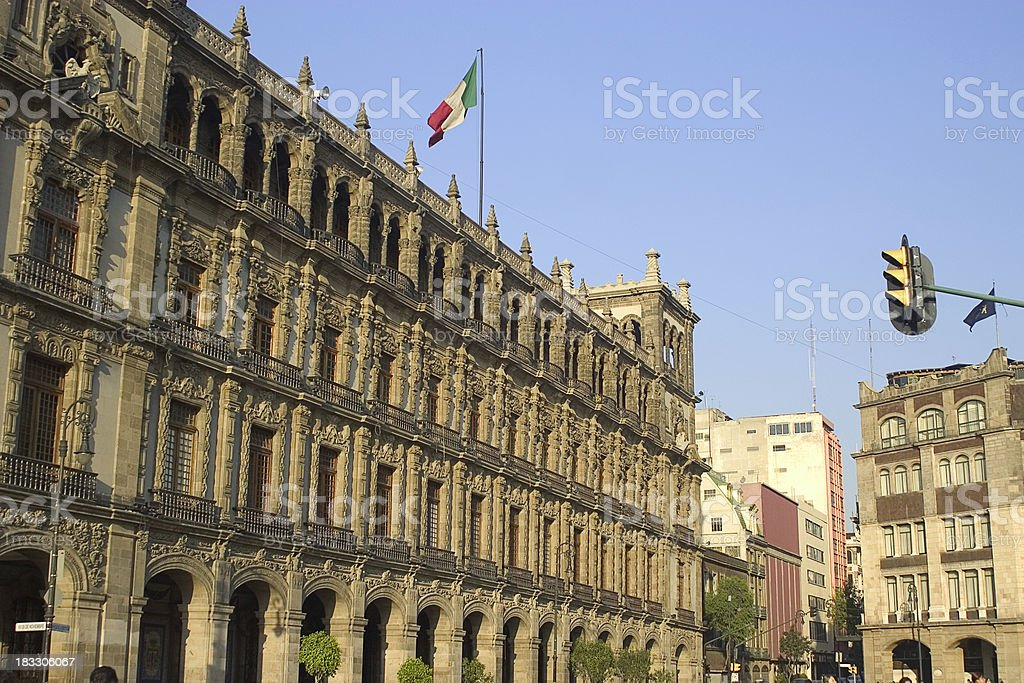 town hall (palacio del ayuntamiento) royalty-free stock photo