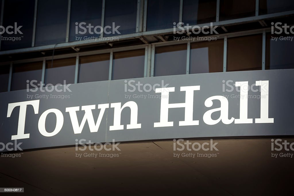 Town hall stock photo