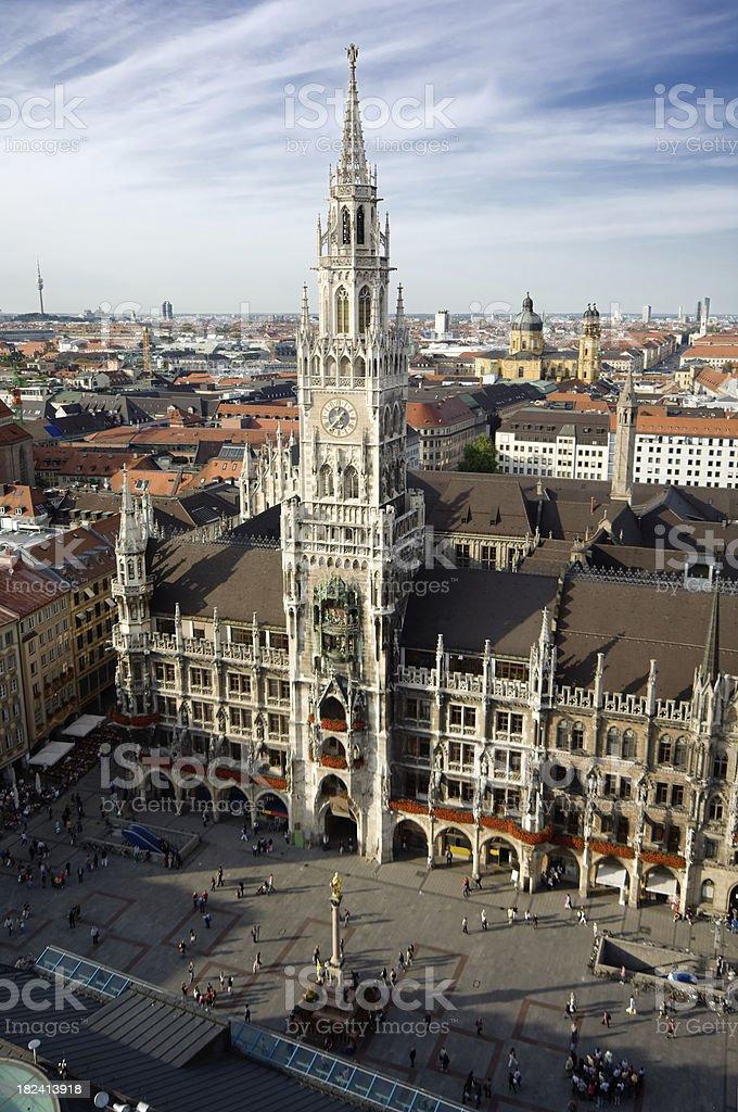 Town Hall skyline, Munich Germany royalty-free stock photo