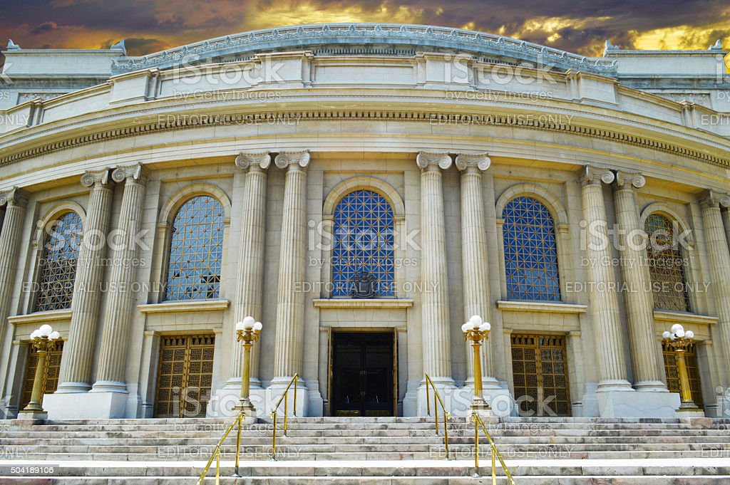 Town Hall Theater in Viña del Mar Chile stock photo