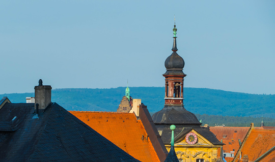 Town Hall Tower Bamberg Germany from above