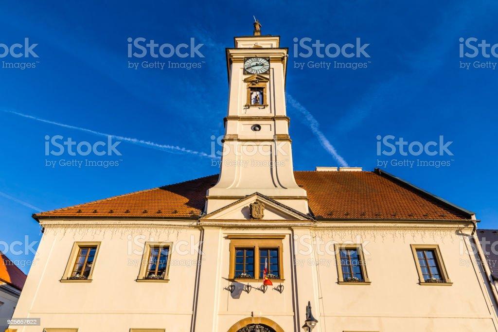 Town Hall - Uhersky Brod, Czech Republic stock photo