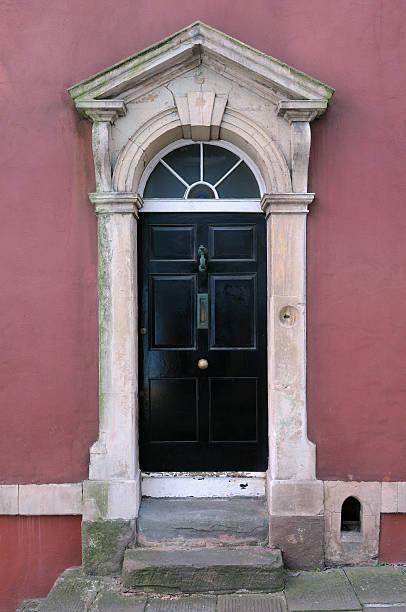 Town House Front Door stock photo