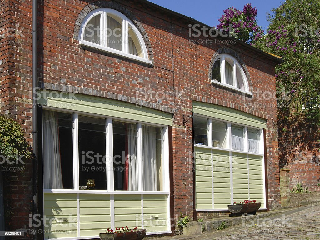 Town houses. Arundel. West Sussex. England royalty-free stock photo