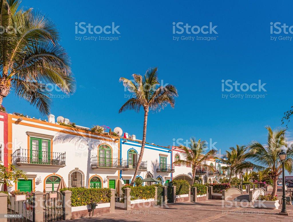 Town Houses in Puerto de Mogan - Gran Canaria stock photo