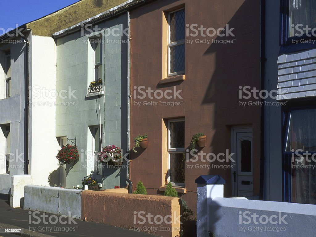 Town Houses in Worthing, West Sussex, England royalty-free stock photo