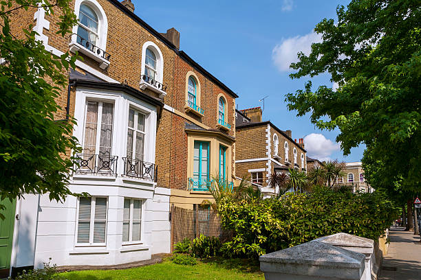 Town houses. London, England stock photo