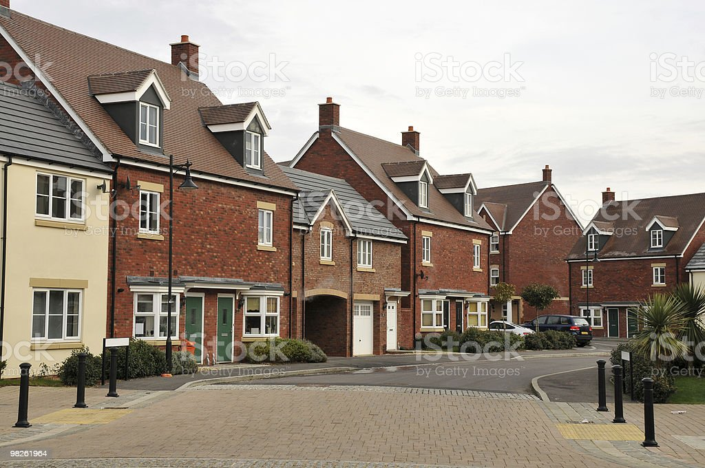 Town Houses royalty-free stock photo