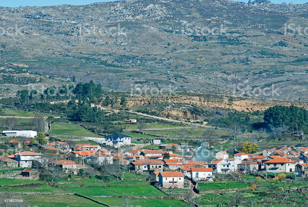 Town in Montemuro Mountains of north Portugal royalty-free stock photo