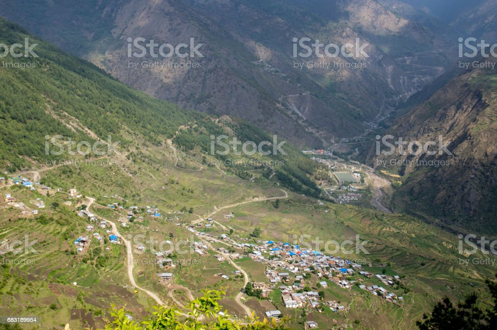 Town in the Valley 免版稅 stock photo