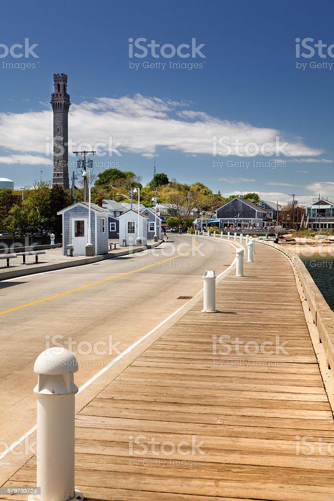 Town landcape in Cape Cod stock photo