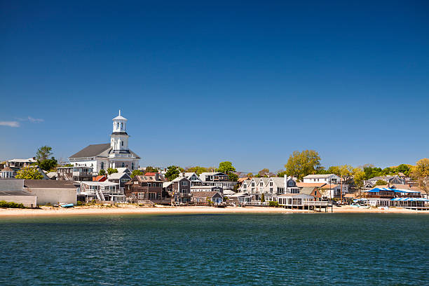 Town landcape in Cape Cod Provincetown Massachusetts USA provincetown stock pictures, royalty-free photos & images