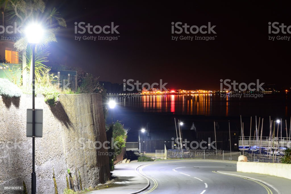 Town Lights Across The Bay royalty-free stock photo