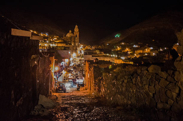 Town lights at night Town lights at night real de catorce stock pictures, royalty-free photos & images