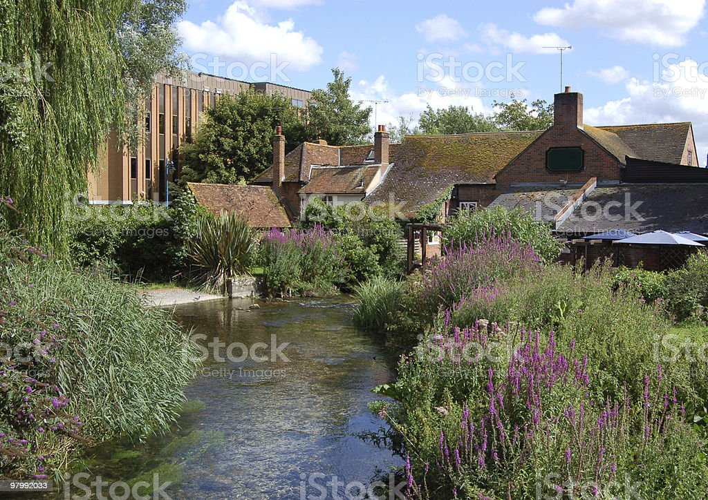 Town Mills, Andover royalty-free stock photo