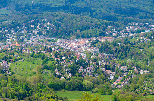 Town nestling amongst trees in the Black Forest