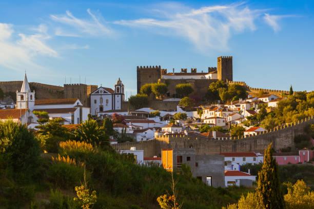 Town Obidos - Portugal stock photo