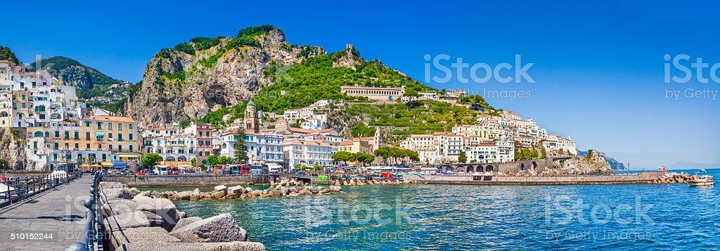 Town of Amalfi, Amalfi Coast, Campania, Italy stock photo