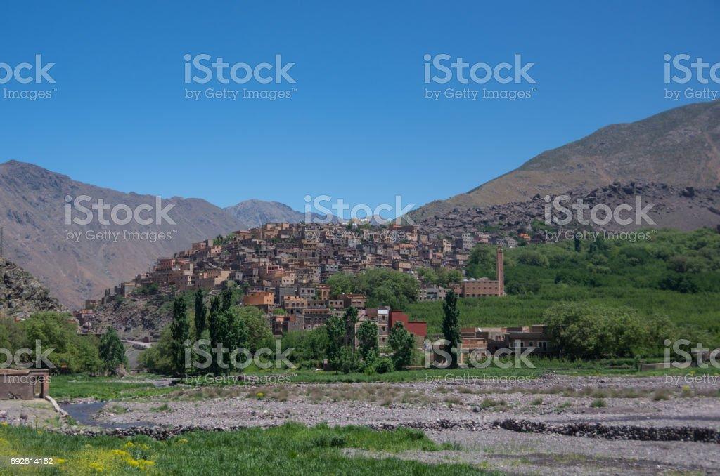 Town of Aroumd, Toubkal national park, Morocco stock photo