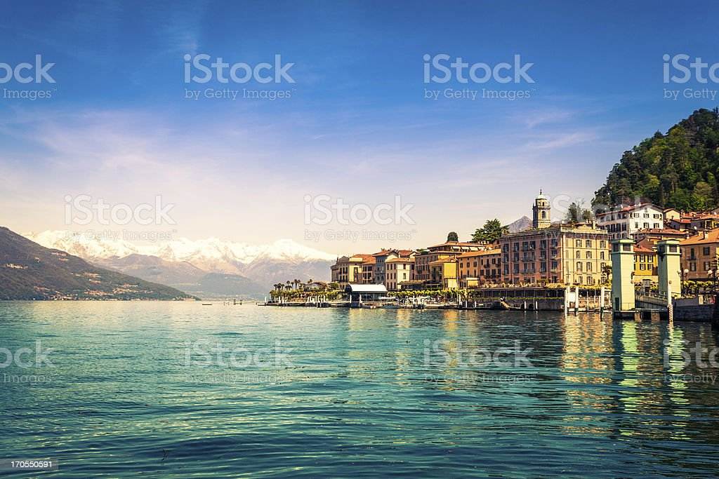 Town of Bellagio on Como Lake, National Landmark, Italy stock photo