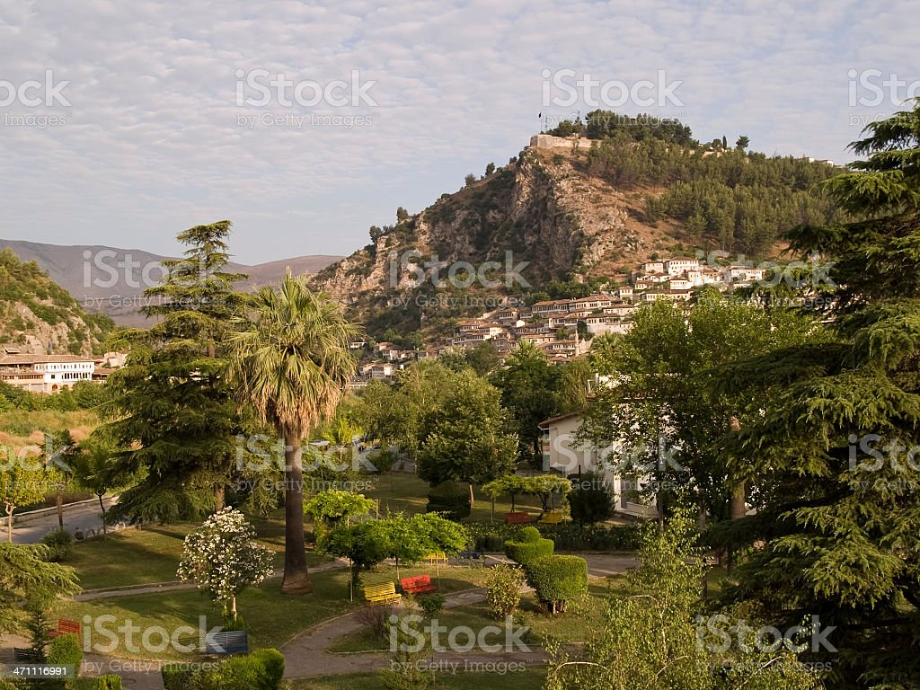 Town of Berat royalty-free stock photo