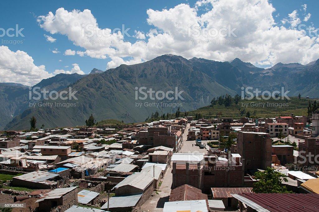 Town of Cabanaconde, Colca Canyon stock photo