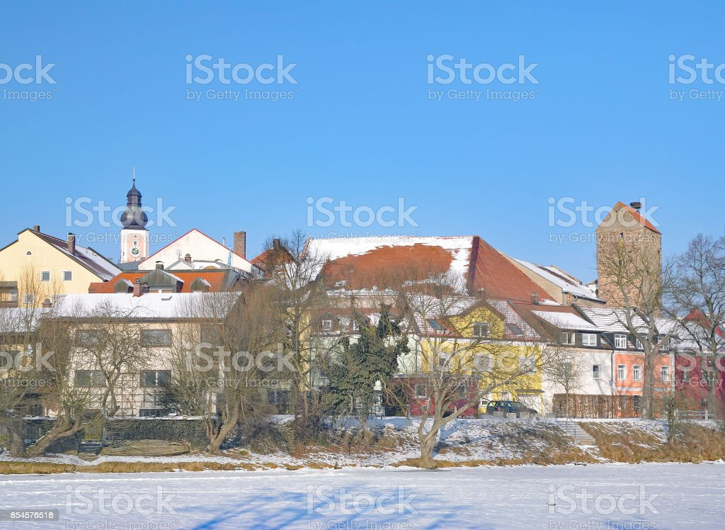 Town of Cham,bavarian Forest,Germany stock photo