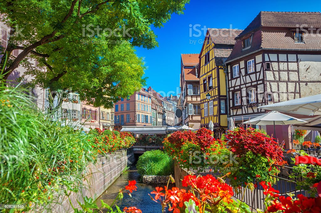 Town of Colmar stock photo