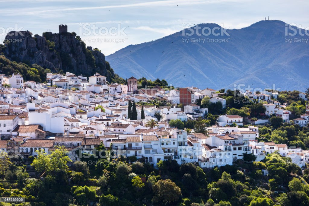 Town of Gaucin in Andalucia stock photo