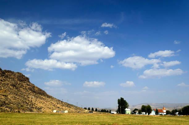 Town of Jordan Valley in Eastern Oregon stock photo