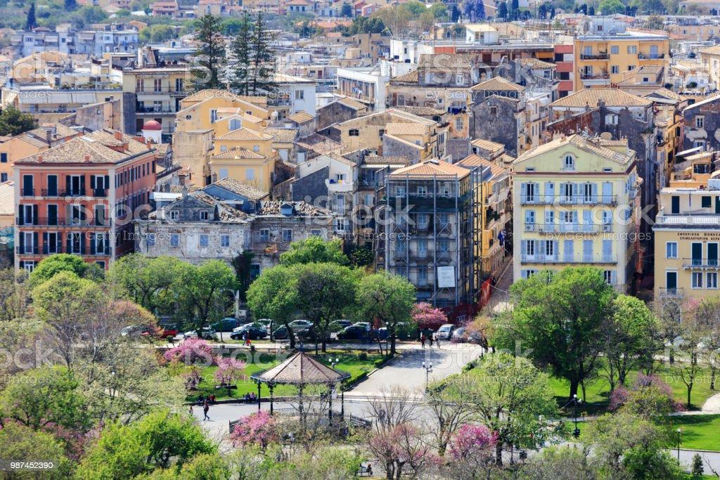 Town of Kerkira (Corfu) stock photo