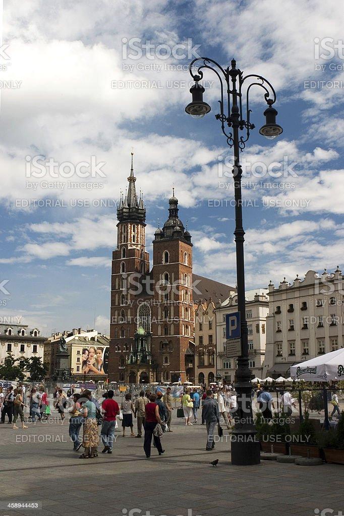 Town of Krakow stock photo