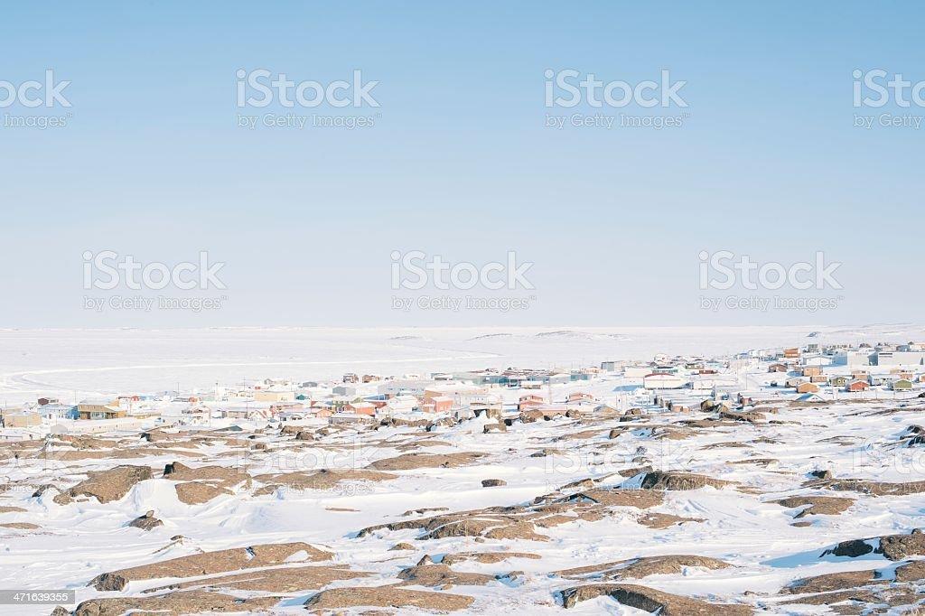 Town of Kugluktuk stock photo