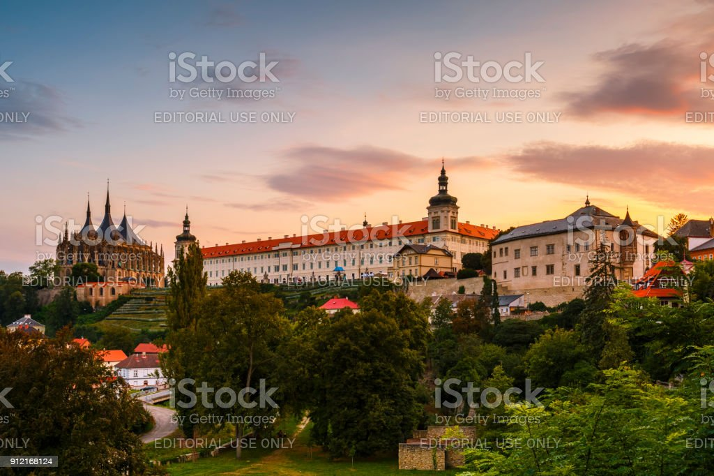 Town of Kutna Hora in Czech Republic. stock photo