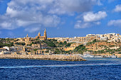 Town of Mgarr on Gozo island in Malta